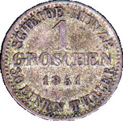 1 Groschen - Ernst II – reverse