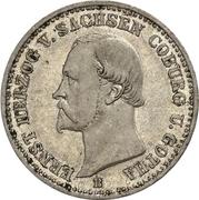 ⅙ Thaler - Ernst II (Silver Jubilee) – obverse