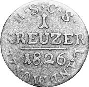 1 Kreuzer - Ernst I – reverse