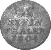 1/48 Thaler - Franz Friedrich Anton – reverse
