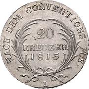 20 Kreuzer - Ernst I – reverse