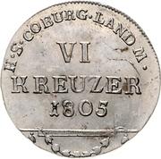 6 Kreuzer - Franz Friedrich Anton – reverse