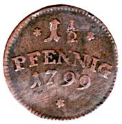 1½ Pfennig - Friedrich IV – reverse