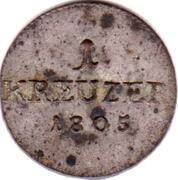 1 Kreuzer - Franz Friedrich Anton – reverse
