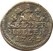 1 Heller - Christian Ernst and Franz Josias – reverse