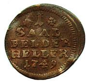 1 Heller - Franz Josias – reverse