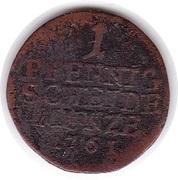 1 Pfennig - Franz Josias – reverse