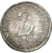 1 Groschen - Johann Wilhelm (Bicentennial of Protestant Reformation) – reverse