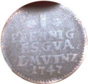 1 Pfennig - Friedrich III – reverse