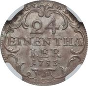 1/24 Thaler - Friedrich III – reverse