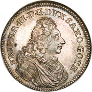 ¼ Thaler - Friedrich II (Anniversary of the Restoration) – obverse