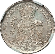 ⅓ Thaler - Friedrich II and Johann Wilhelm – reverse