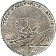 1½ Thaler - Friedrich I. – reverse