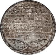 """1 Thaler - Friedrich II """"Baptism Thaler"""" – reverse"""