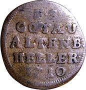 1 Heller - Friedrich II – reverse