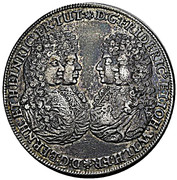 1 Thaler - Friedrich II Johann Wilhelm (Allegiance of Gotha) – obverse
