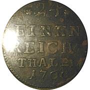 1/24 Thaler - Ernst Friedrich III Carl – reverse