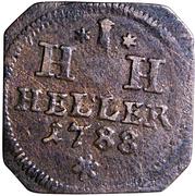 1 Heller - Joseph Friedrich -  reverse