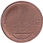 1 Pfennig - Friedrich I – reverse