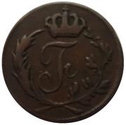 ¼ Kreuzer  - Friedrich I. – obverse