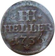 1 Heller - Ernst Friedrich II – reverse