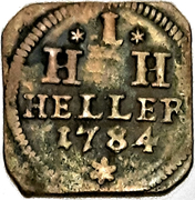 1 Heller - Joseph Friedrich (Klippe) – reverse