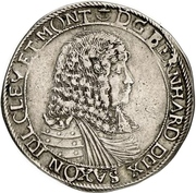 ⅔ Thaler - Bernhard II – obverse