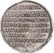 1 Thaler - August II. – reverse