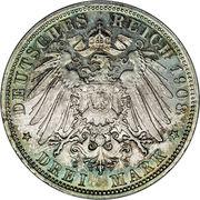 3 Mark - Georg II – reverse