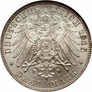 3 Mark - Bernhard III (Death) – reverse