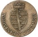 ½ Kreuzer - Louise Eleonore of Hohenlohe Langenburg (Princess Regent) – obverse