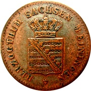 ½ Kreuzer - Bernhardt II – obverse