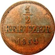 ½ Kreuzer - Bernhardt II – reverse