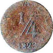 ¼ Kreuzer - Bernhard II – reverse
