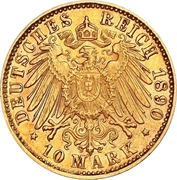 10 Mark - Georg II – reverse