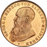 10 Mark - Georg II – obverse