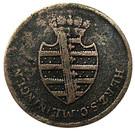 ¼ Kreuzer - Bernhard Erich Freund under administration of Luise Eleonore von Hohenlohe-Langenburg – obverse