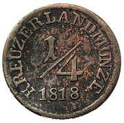 ¼ Kreuzer - Bernhard Erich Freund under administration of Luise Eleonore von Hohenlohe-Langenburg – reverse