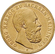 20 Mark - Georg II – obverse