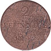2 Pfennig - Bernhard II – reverse