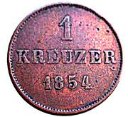 1 Kreuzer - Bernhard II – reverse