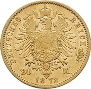 20 Mark - Georg II – reverse