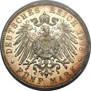 5 Mark - Georg II – reverse