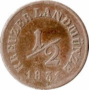 ½ Kreuzer - Bernhard II – reverse