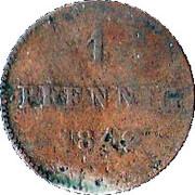 1 Pfennig - Bernhard II – reverse