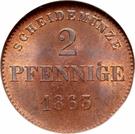 2 Pfennige - Bernhard II – reverse