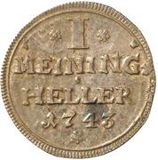 1 Heller - Friedrich Wilhelm – reverse