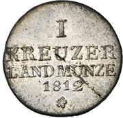 1 Kreuzer - Bernhard Erich Freund – reverse