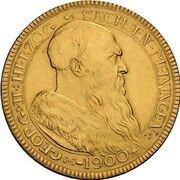 5 Mark - Georg II (Gold pattern strike) – obverse