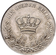 1 Gulden - Bernhard II – reverse